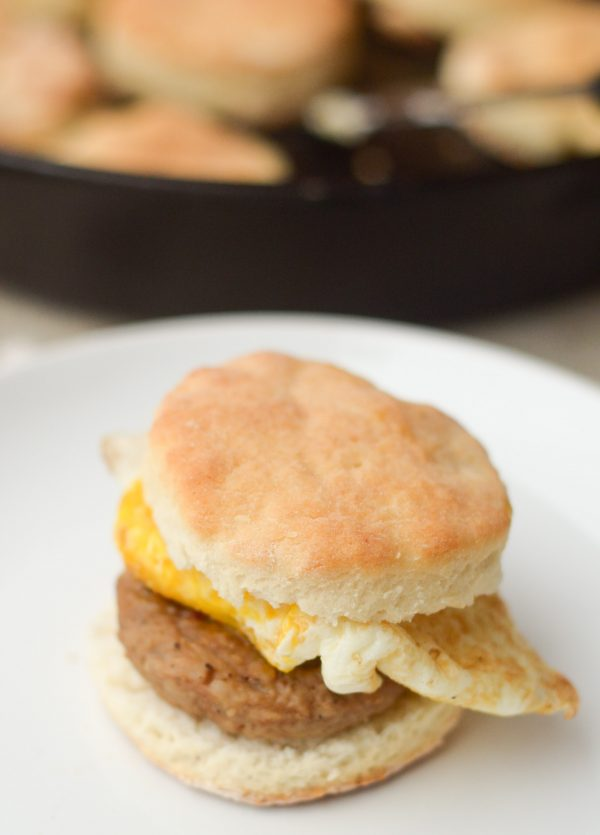 Homemade Buttermilk Biscuits with Sausage & Egg #JimmyDeanSausage #ad