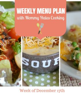 Weekly Menu Plan – Week of December 17th