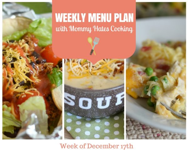 Weekly Menu Plan - Week of December 17th