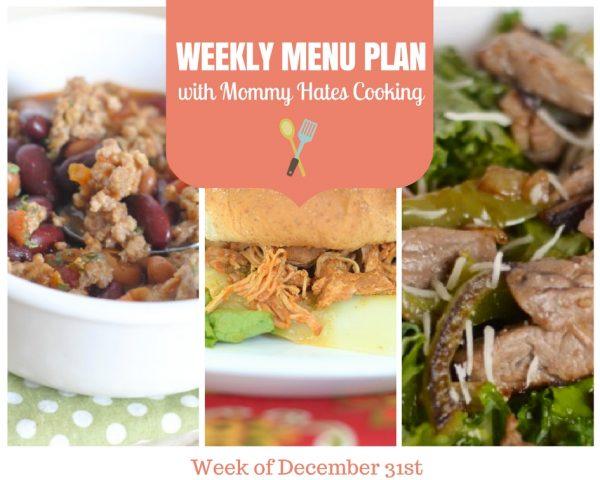 Weekly Menu Plan - Week of December 31st