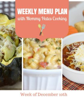 Weekly Menu Plan – Week of December 10th