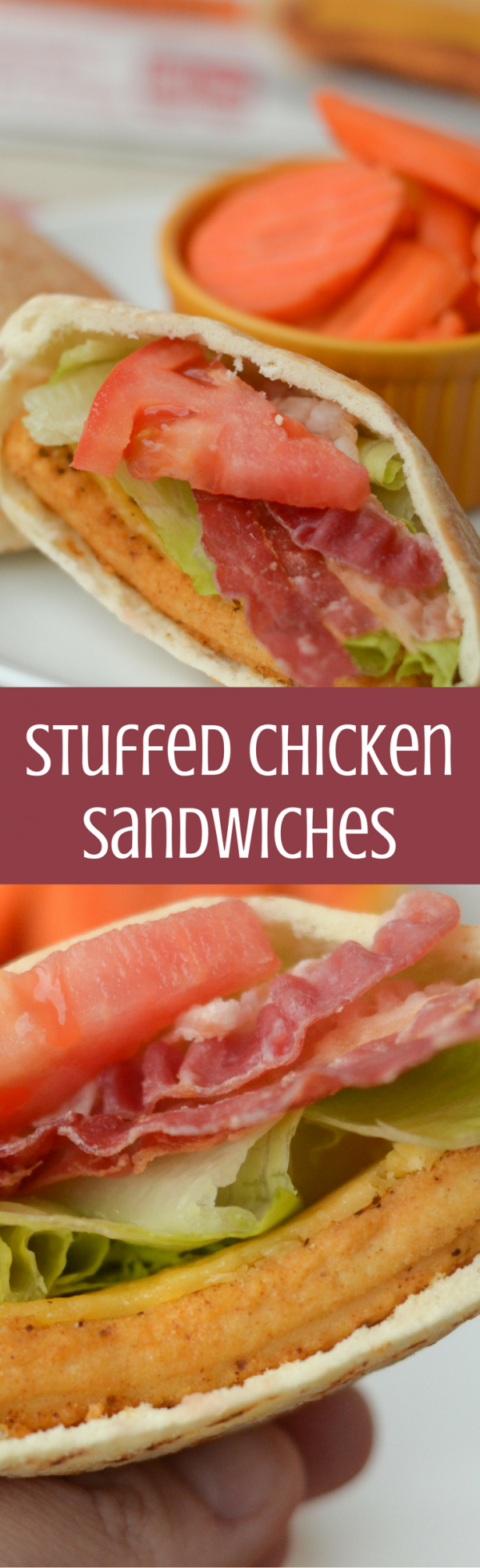 Stuffed Chicken Sandwiches