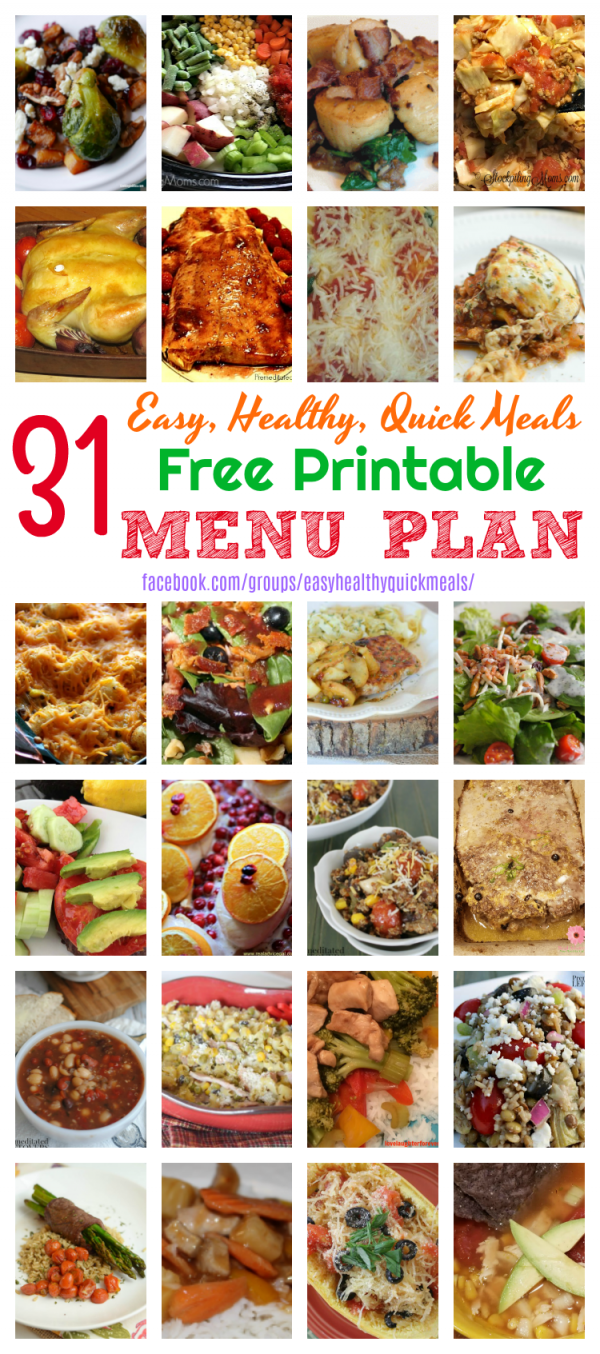 31 Easy, Healthy, & Quick Meals for December