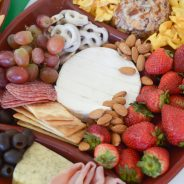 Host a Homegating Party with Football Inspired Cheese Board