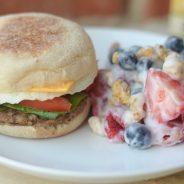 Jimmy Dean Delights® Breakfast Sandwiches & Fruit Salad