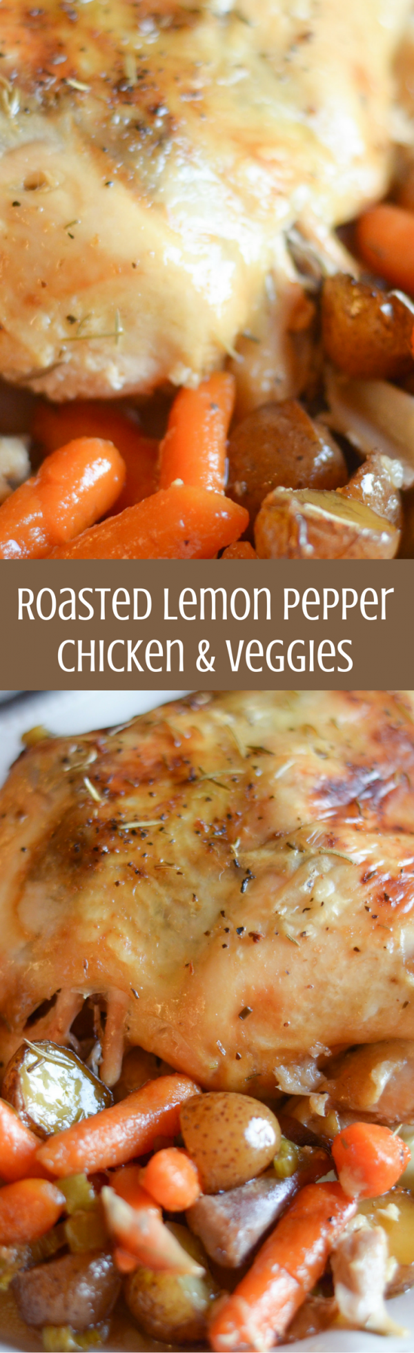 Roasted Lemon Pepper Chicken & Veggies