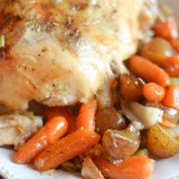 Roasted Lemon Pepper Chicken & Veggies in the Dutch Oven