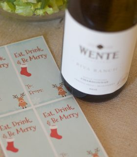 FREE Printable Wine Tag for the Holiday Season