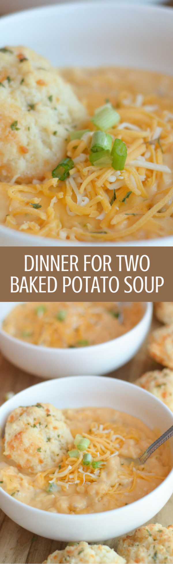 Dinner for Two - Baked Potato Soup