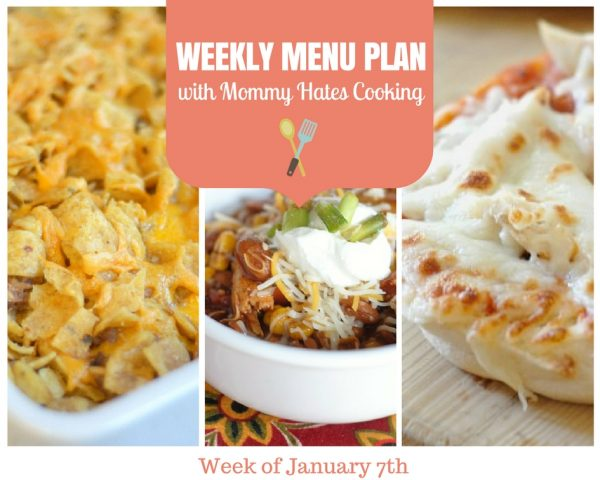 Weekly Menu Plan - Week of January 7th