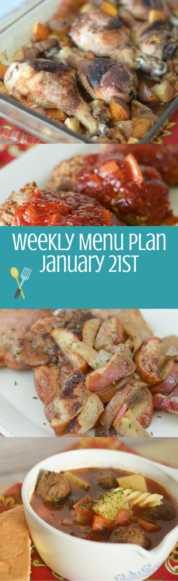 Weekly Menu Plan - Week of January 21st