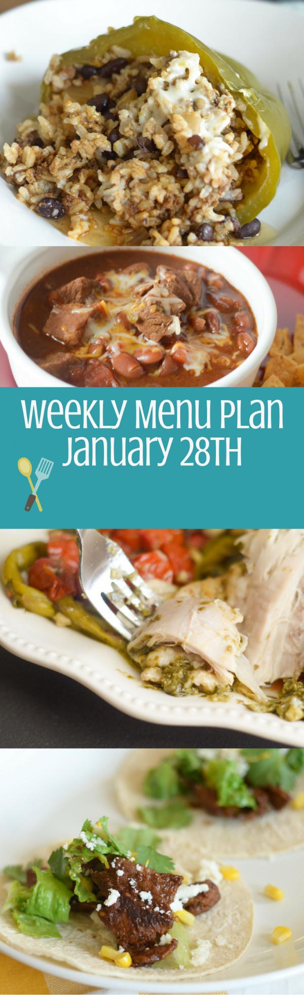 Weekly Menu Plan - January 28th