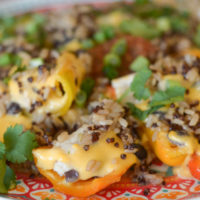 Cheesy Sweet Pepper Nachos