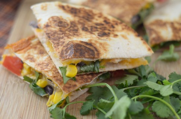 Chicken & Corn Salsa Quesadillas