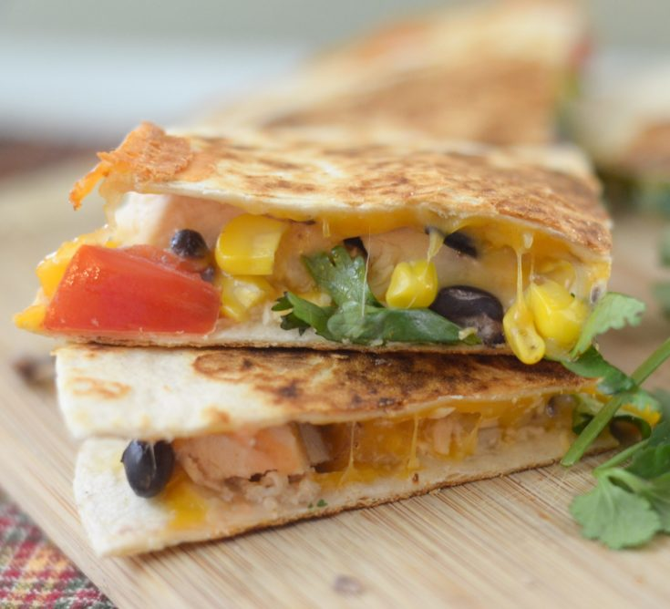 Chicken & Corn Salsa Quesadillas