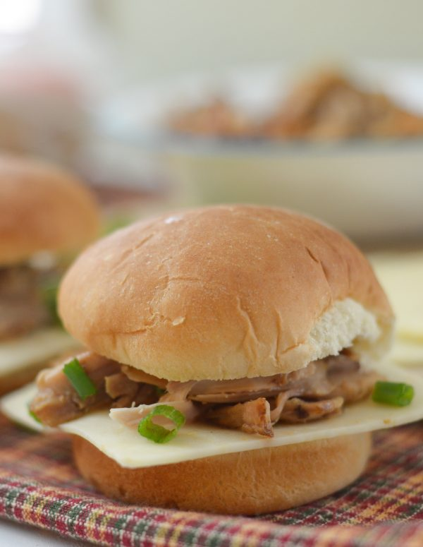 Glazed Chicken Sliders with Pepper Jack Cheese