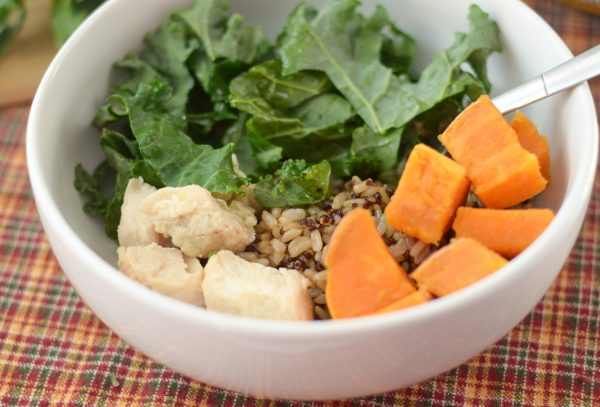 Sweet Potato & Kale Rice Bowl - Mommy Hates Cooking