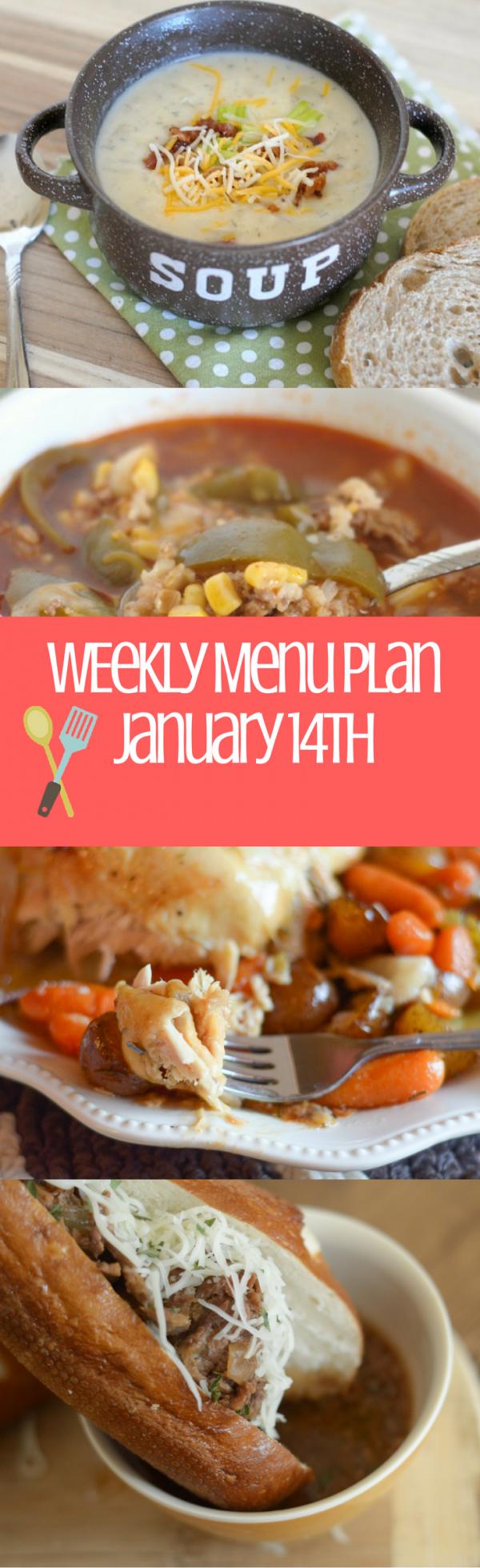 Weekly Menu Plan - Week of January 14th