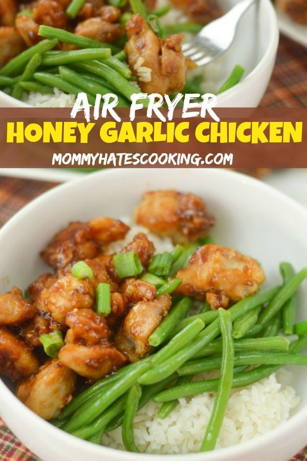Air Fryer Honey Garlic Chicken #AirFryer #GlutenFree