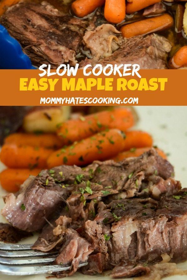 Slow Cooker Maple Roast