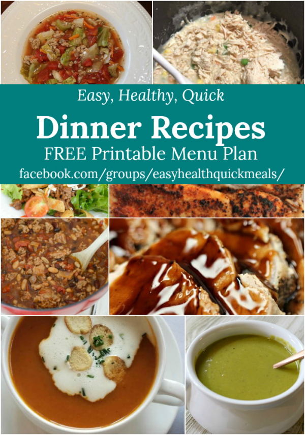 Easy, Healthy, & Quick Menu Plan for February