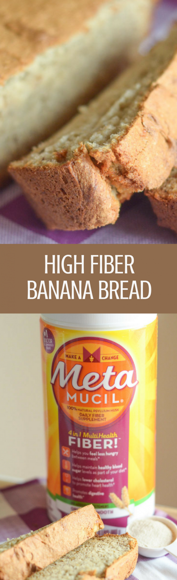 High Fiber Banana Bread