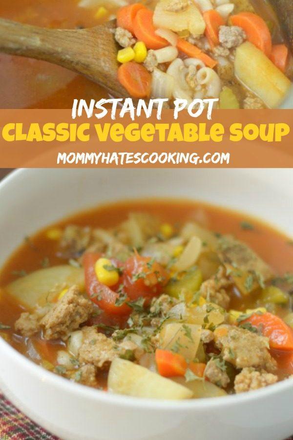 Instant Pot Vegetable Soup #GlutenFree #InstantPot