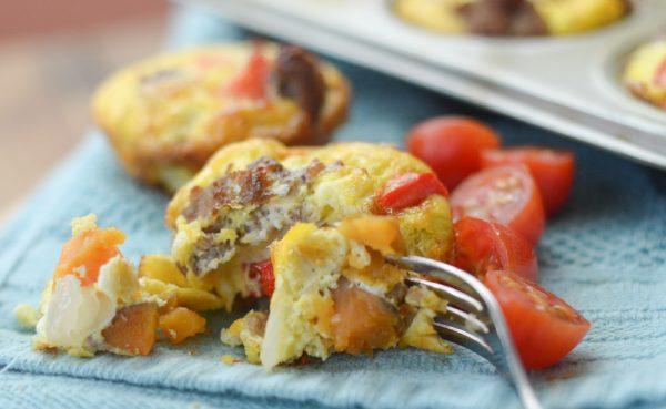 Gluten Free Sweet Potato & Sausage Egg Cups Recipe