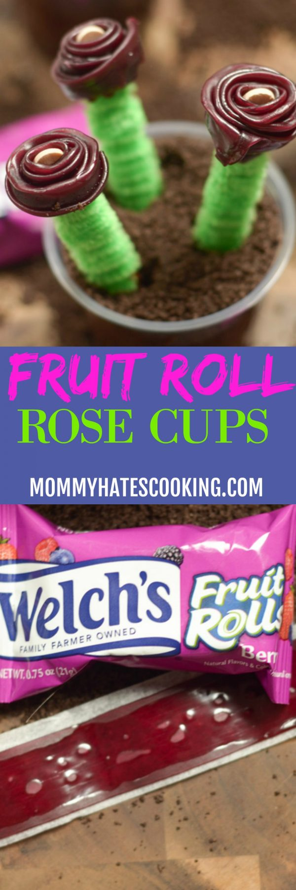 Fruit Roll Rose Cups
