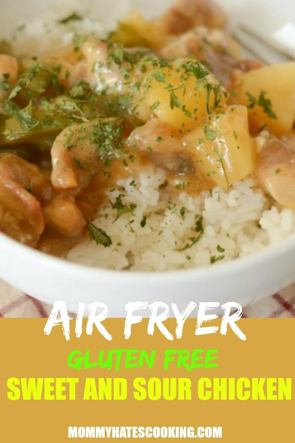 Air Fryer Gluten Free Sweet and Sour Chicken