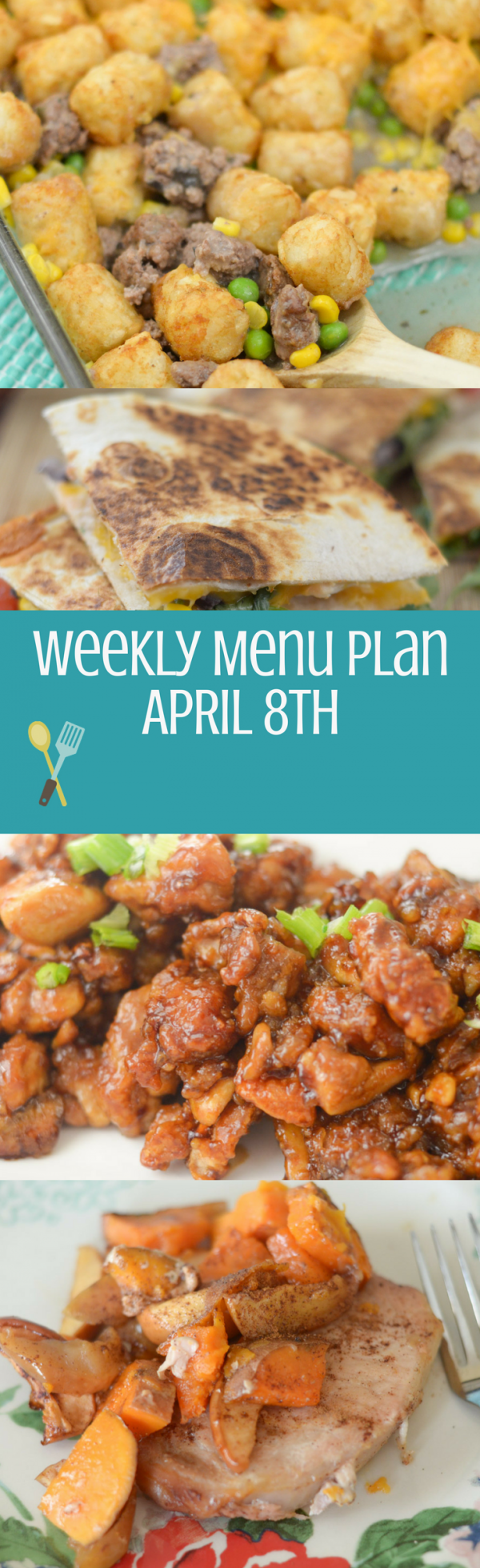 Weekly Menu Plan - Week of April 8th