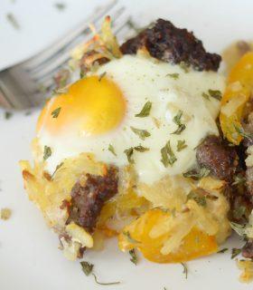 Air Fryer Sausage Breakfast Casserole