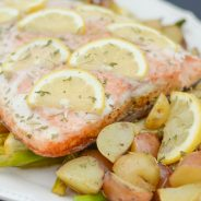 Grilled Salmon with Garlic Lemon Butter