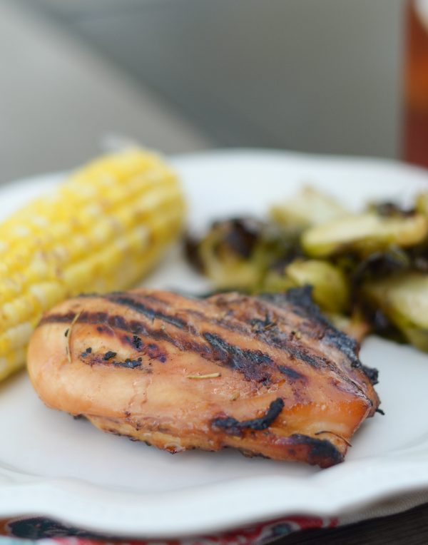 Grilled Garlic Rosemary Glazed Chicken