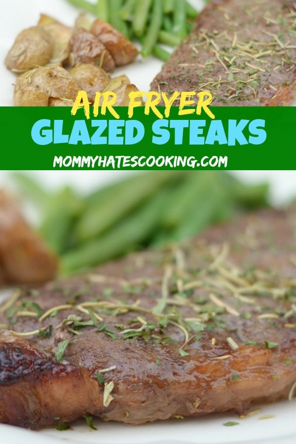 Air Fryer Glazed Steaks