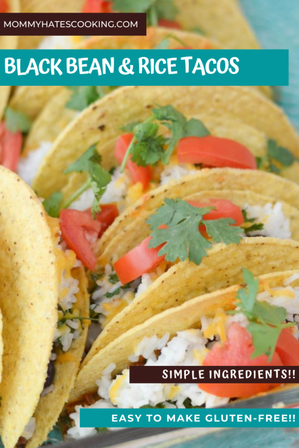BLACK BEAN AND RICE TACOS