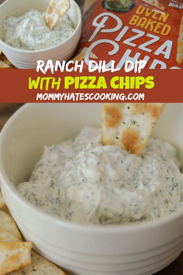 Creamy Ranch Dill Dip & Hello Delicious Pizza Chips #HelloDelicious #ad #ovenbaked #pizzachips #baked #hellodeliciousbrands
