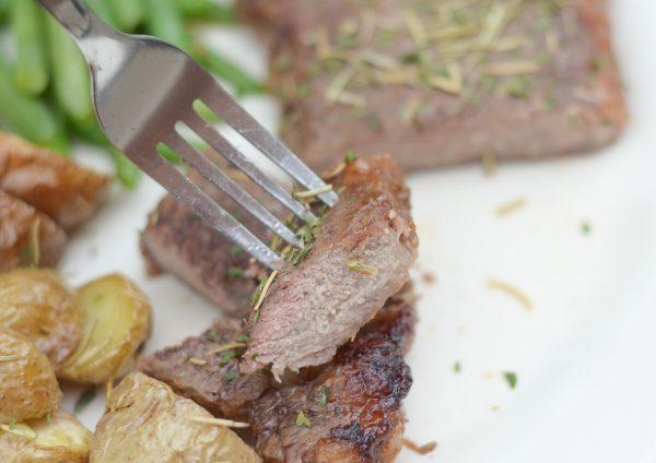 Air Fryer Glazed Steaks