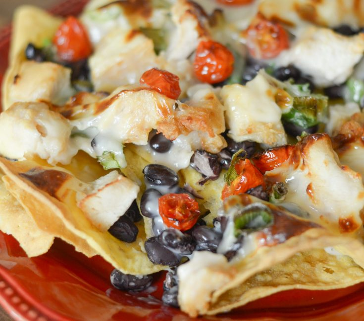 Air Fryer Plate Nachos