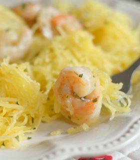 Gluten Free Shrimp Scampi with Spaghetti Squash
