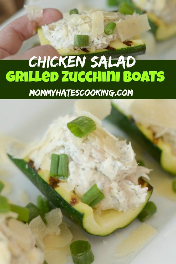 Gluten Free Chicken Salad Zucchini Boats Recipe