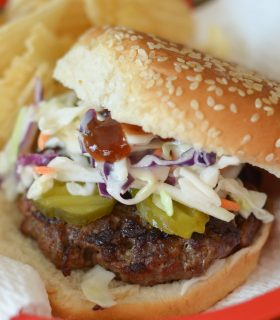 Grilled Barbecue Slaw Burgers