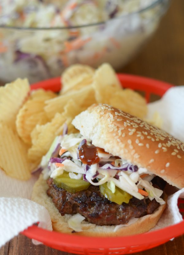 Grilled Barbecue Slaw Burgers #SummerofSlawSweeps #ad