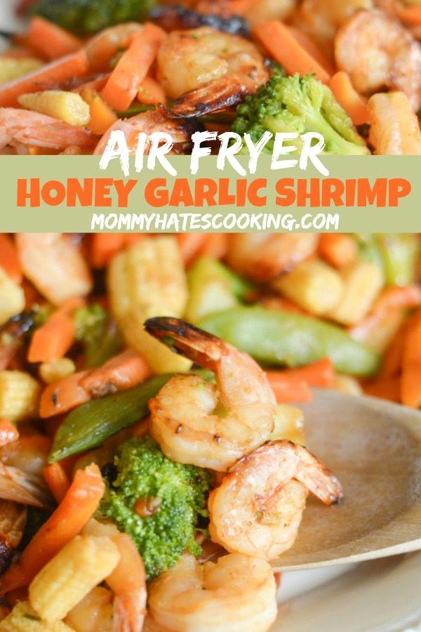 AIR FRYER HONEY GARLIC SHRIMP #GLUTENFREE #AIRFRYER
