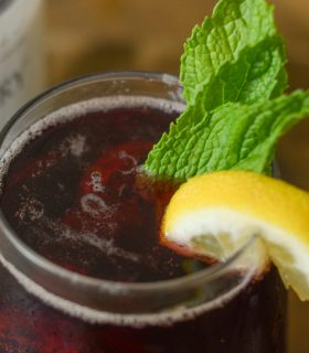 Cherry Mint Spritzer Mocktail