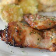 Air Fryer Glazed Chicken Thighs