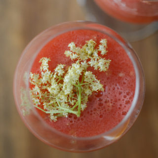 Watermelon Pineapple Punch with Elderflower