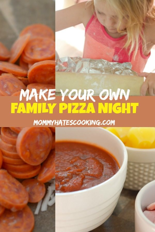 Make Your Own Pizza Family Night