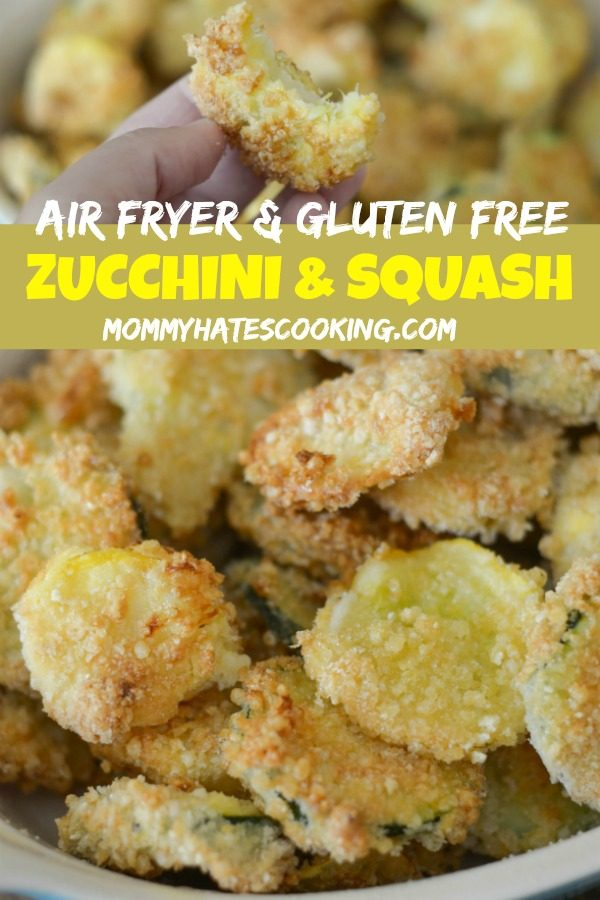 AIR FRYER FRIED ZUCCHINI & YELLOW SQUASH #AIRFRYER #GLUTENFREE