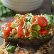 Taco Style Quinoa Stuffed Avocado